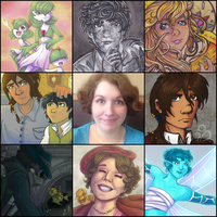 I DID THE GRID THING - ART VS ARTIST 2016 by Rosey-Mae