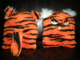 Handmade Plush Pillows - Tiger Twins by Oriana-X-Myst