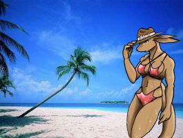 Sheila at the Beach 1 by Inspectornills