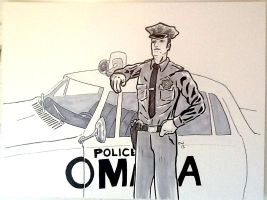 Classic Omaha Police Officer: 254 by GeekyWhiteGuy
