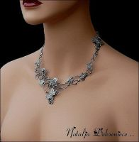 silver necklace by Atalia65