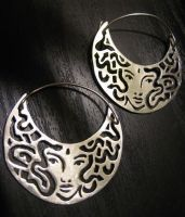 Medusa Earrings by syprina