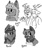 Mindcrack kittys... again by Deer-dog