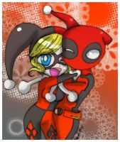 Harley and deadpool by Danielle-chan