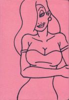 Jessica Rabbit Sketchbook Cover by AEIFS