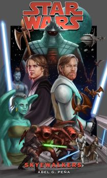 Star Wars Cover Art - Skyewalkers by DavidRabbitte