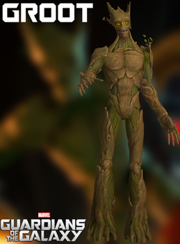 Groot - GOTG - XPS by xZombieAlix
