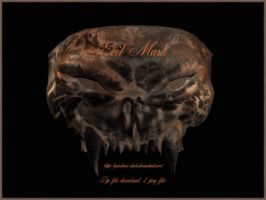 Evil mask by priesteres-stock