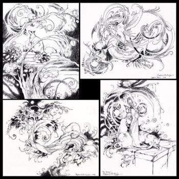 More Convention ink drawings by puimun