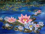 Water Lilies by Leki-Lily