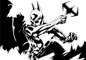 Batman Beyond INKS by JamesLeeStone