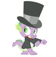 Spike's Royal Canterlot Wedding Tuxedo by Avastindy