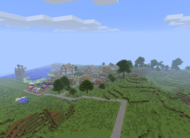 Village Update - Path to the Library Tower by DPrime123
