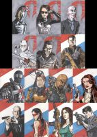 GI Joe Movie Sketch Cards by tedwoodsart