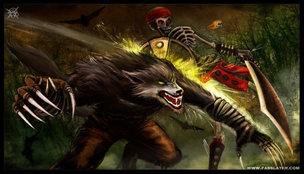 Sabrewulf And Spinal by FASSLAYER