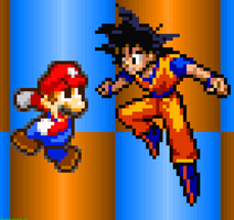 Mario Vs. Goku by FaisalAden