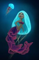 Jellyfish Mermaid by flashf0x