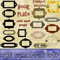 Book Plate Custom Shapes by debh945