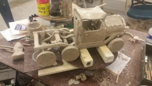 old truck ( no type ) ceramic project. by ownerfate