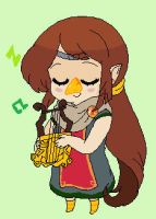 LOZ_WW_Blinking Medli animation by StarValerian