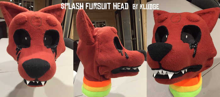 $plash fursuit head by Kludges