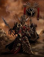 Skorne Tyrant and Standard by cwalton73