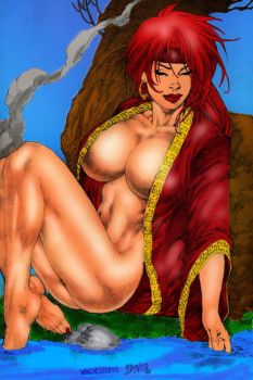 Ed Benes Red Monika Color by winchester01