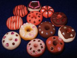 Fimo Doughnuts by HateSong