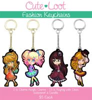 Fashion Keychains by cute-loot