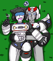 TF - Prowl x Jazz mechpreg by Cloud-Kitsune