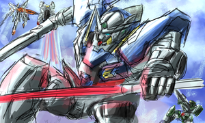 Kidou Senshi Gundam rough by Frost7