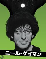 Neil Gaiman by ThatCrookedMind