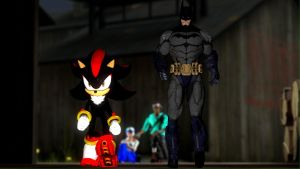 The Gun-Slinging Hedgehog and the Dark Knight by Legoguy9875