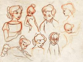 peter pan sketches by winderly