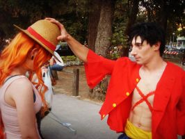 Nami and Luffy cosplay by Namuzza94