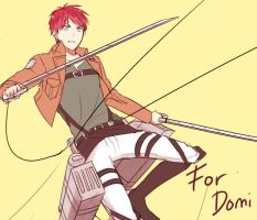 shingeki no kyojin oc for Domi :3 by i-c-21
