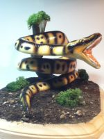 Snake painted completed and mounted by rvbass