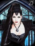 Evil Queen drawing by Francesca Benevento by ZiaFranny