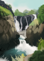 Waterfall by Nanabuns