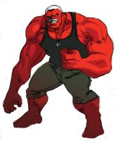 Red Hulk by iliaskrzs