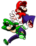 Mario and Luigi! by megaMit