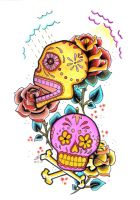 Sugar skulls by angel-food