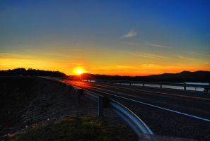 Evening Highway by Logicalx