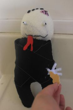 Vic the sick zombie-forsale by Plushies-For-Sale