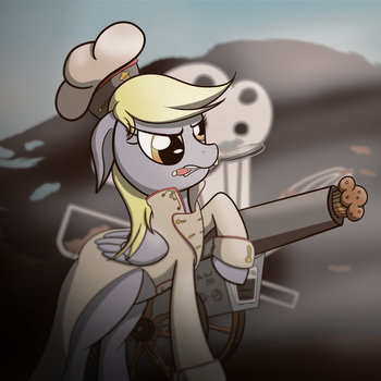 Commission: Skype Profile Pic - Pirate Chef Derpy by AI-battle-programer
