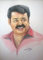 Pencil Portrait - Indian Movie actor 'Mohanlal' by varhead