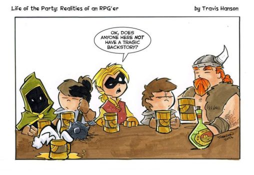 Character backstories rpg comic by travisJhanson