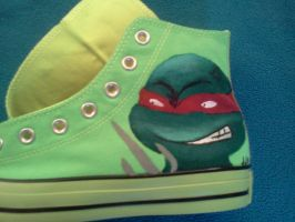 Teenage Mutant Neon Shoes 02 by jjsshoesxd
