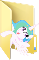 Custom Celestia folder icon by rileystrickland