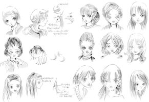 Hair styles females by genshiken-rj